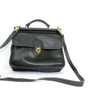 Coach vintage willis station blk crossbody bag